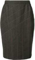 Fendi Pre Owned panelled stitch pencil skirt