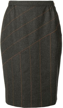 Fendi Pre-Owned Panelled Stitch Pencil Skirt