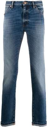 PT05 slim-fit acid wash jeans
