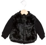 Vince Girls' Faux Fur-Accented Wool Jacket