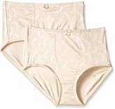 Exquisite Form Women's Medium Control Brief Panty(Pack of 2)