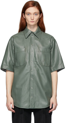 Situationist Khaki Leather Shirt