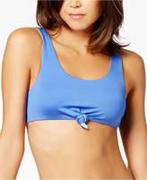 Dolce Vita Knot-Front Reversible Bikini Top Women's Swimsuit