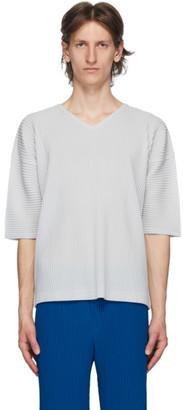 Homme Plissé Issey Miyake Grey MC April V-Neck T-Shirt
