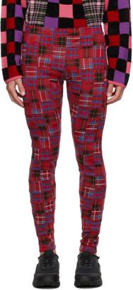 Comme des Garçons Homme Plus Red Jacquard Check Trousers