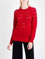 Prabal Gurung Pointelle-knit wool jumper