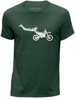 STUFF4 Men's Round Neck T-Shirt/Stencil Art/Motorcross/Stunt