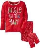 "Osh Kosh Oshkosh Bgosh Girls 4-14 Jingle All The Way"" Christmas Top & Bottoms Pajama Set"