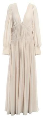 Stella McCartney Carleigh Shirred Silk-georgette Maxi Dress
