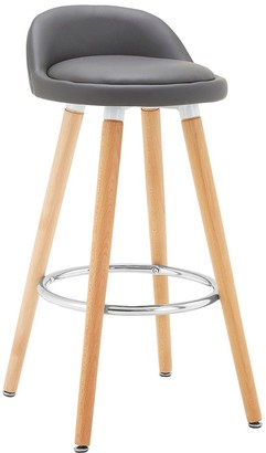 Premier Housewares Normann Bar Stool- Grey