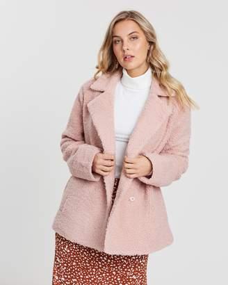 MinkPink Jacqueline Faux Fur Coat