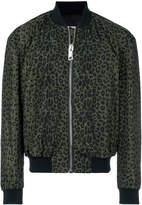 Les Hommes leopard print bomber jacket