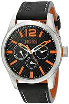 HUGO BOSS BOSS Orange Men's 1513228 PARIS Analog Display Quartz Black Watch
