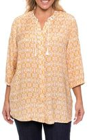 Yarra Trail Woman 3/4 SLEEVE FRESCO PRINT SHIRT