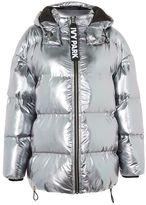 Ivy Park Pewter bonded puffa jacket