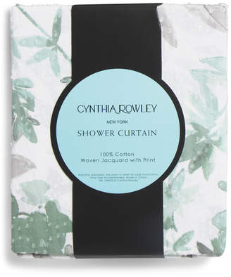 72x72 Floral Printed Shower Curtain