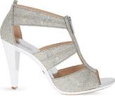 MICHAEL Michael Kors Berkley glitter-embellished leather heeld sandals