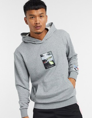 Puma BMW graphic hoodie in gray