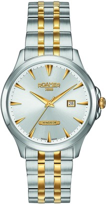Roamer Men's Quartz Watch with Silver Dial Analogue Display and Two Tone Stainless Steel Bracelet 705856 47 15 70