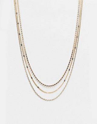 Liars & Lovers multirow necklace in delicate gold chain