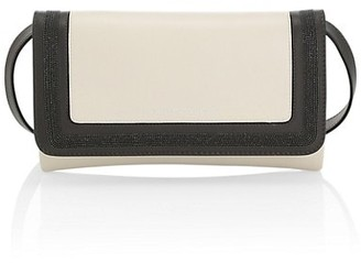 Brunello Cucinelli Monili-Trimmed Colorblock Leather Clutch