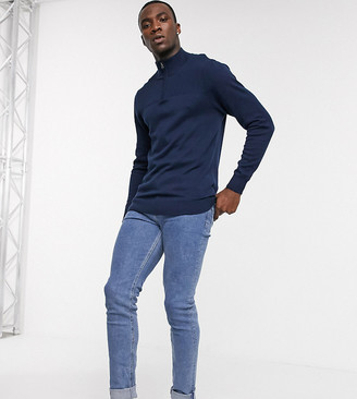 ASOS DESIGN Tall skinny jeans in flat mid wash blue