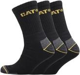 Caterpillar Mens Workwear Three Pack Crew Socks Black