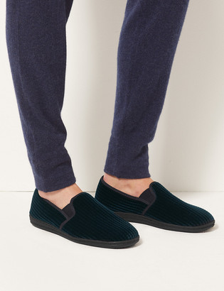 Marks and Spencer Corduroy Slippers with Freshfeet