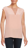 Bailey 44 Opto-Kinetic Silk Contrast Top