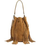 Loeffler Randall Industry Medium Tan Suede Bucket Bag
