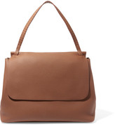 The Row Top Handle 14 Textured-leather Shoulder Bag - Brown