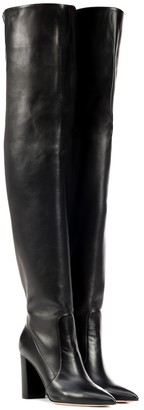 Gianvito Rossi Morgan leather over-the-knee boots
