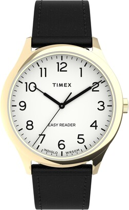 Timex Easy Reader(R) Leather Strap Watch, 40mm