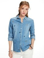 Scotch & Soda Embroidered Denim Shirt