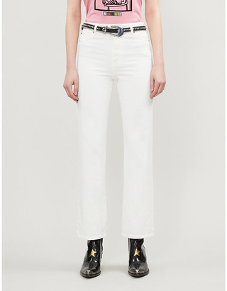 BA&SH Cabril high-rise straight-leg stretch-denim jeans