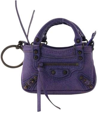 Balenciaga Purple Leather Purses, wallets & cases