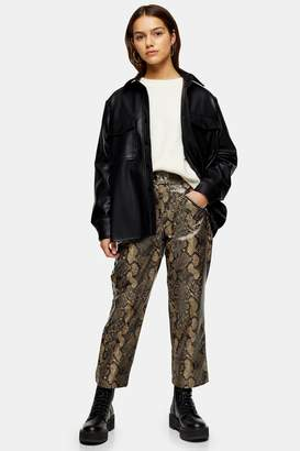 Topshop PETITE Yellow Snake Trousers