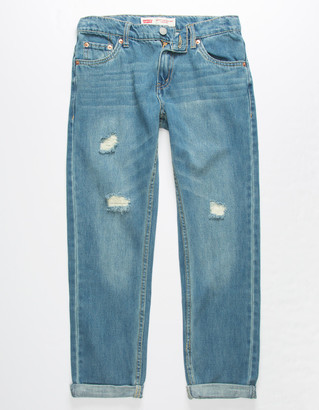 Levi's 502 Regular Taper Light Wash Boys Ripped Jeans