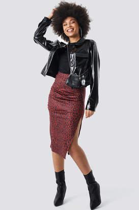 NA-KD Side Split Leopard Print Skirt Multicolor