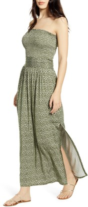 BP Strapless Smocked Maxi Dress