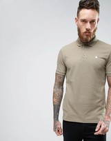 Asos Polo Shirt With Logo In Green Marl