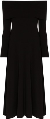 Rosetta Getty Off-The-Shoulder Flared Dress