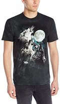 The Mountain Men's Glow Wolf Moon Shirt