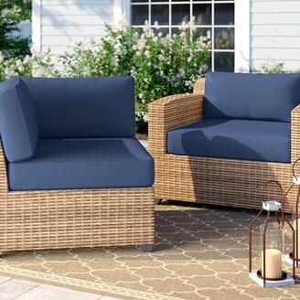 Indoor/Outdoor Cushion Cover Red Barrel Studio Fabric: Black