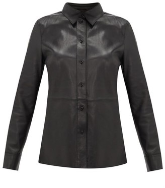 Stand Studio Gabi Leather Shirt - Black