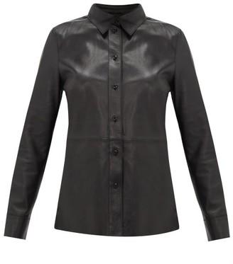 Stand Studio Gabi Leather Shirt - Womens - Black