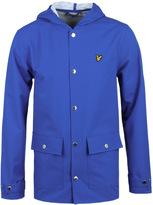 Lyle & Scott Lake Blue Hooded Rain Coat
