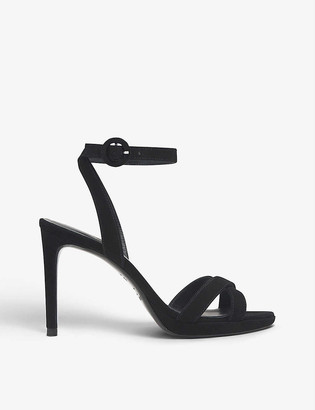 LK Bennett Neath open-toe heeled suede sandals