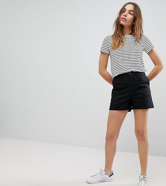 ASOS DESIGN chino shorts in black