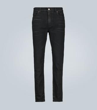 Saint Laurent Cropped skinny coated-denim jeans